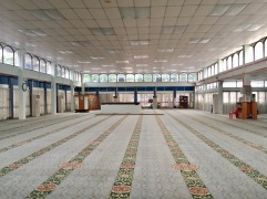 The Muslimah prayer area on the top floor